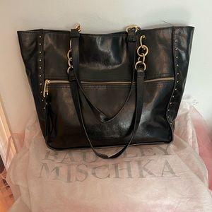 Trendy Leather Badgley Mischka Tote w/ Dust Bag